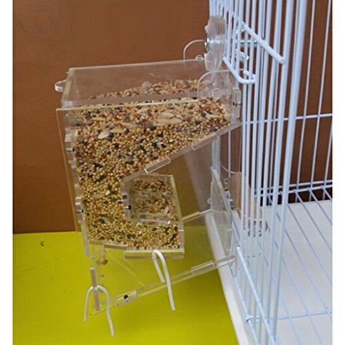 clear-acrylic-pet-parrot-bird-automatic-cage-feeder-medium-single-hopper