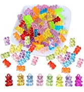 200 Pcs Gummy Bear Nail Charms,Gummy Bears for Nails,Candy Gummy Bear Charms,Gummy Bear Nail Char...