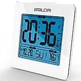 Brand Atomic Snooze Desk Alarm Clocks LCD Digital Calendar Temperature Backlight