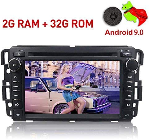 MCWAUTO for GMC Double 2 Din Car in Dash Radio DVD Player GPS Navigation for Car Buick Chevy Android 9.0 OS Multi-Media Player WiFi 4G Bluetooth TPMS DAB OBD2 and Free Rear Camera Preloaded Map