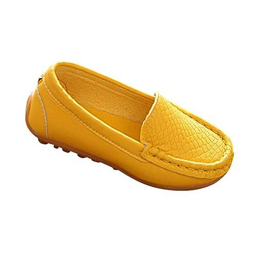 Yudesun Mocasines Unisex Niños Antideslizante - Niño Niña Pisos Cuero Caminar Guisantes Oxford Perezoso Casual Zapatillas Suave Comodidad Bote Niñito ...