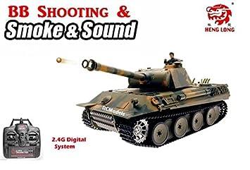 dbab00a1c85a radio remote control heng long 2.4G German Panther 1 16 shooting   smoking  Big