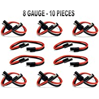 10 PIECES 8 GA 12 QUICK DISCONNECT POLARIZED INLINE POWER CABLE WIRE HARNESS