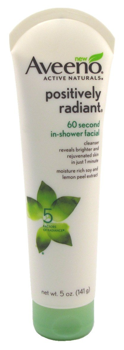 Aveeno Positively Radiant 60-Second In Shower Facial 5 Ounce (147ml)