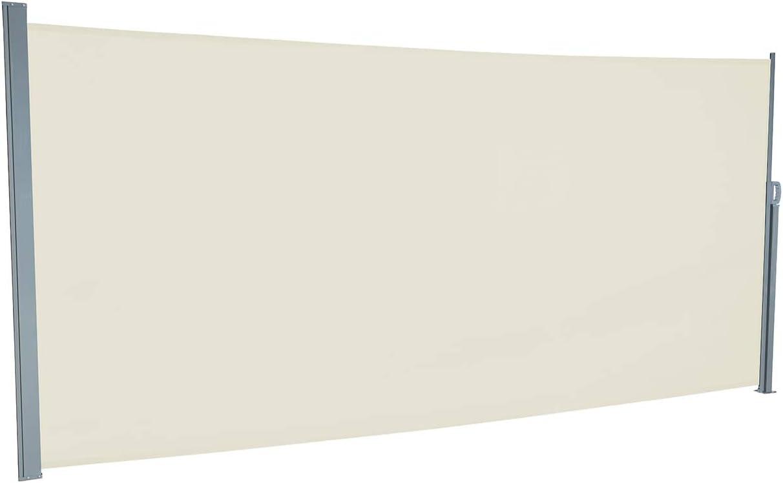 H/öhe 160 oder 180 cm empasa Seitenmarkise Start Sichtschutz Sonnenschutz 450 cm. L/änge bis max