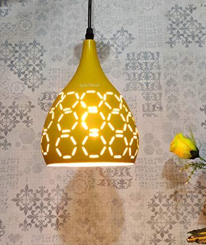 Lyse Decor 40W Pendant Light, Lemon, Lemon, Square