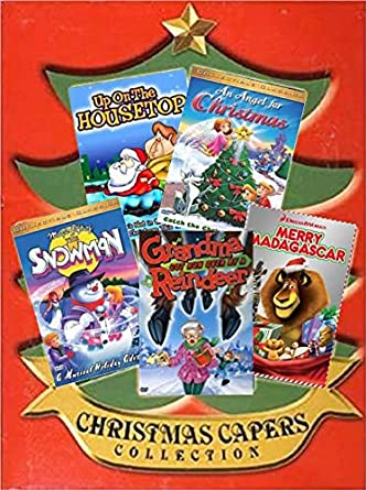 kids christmas cartoons collection 5 pack grandma got run over by a reindeer
