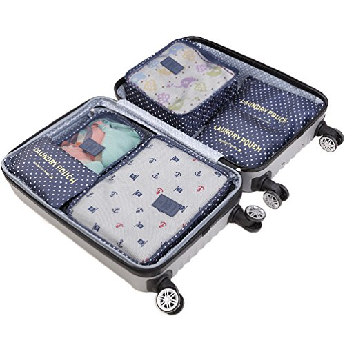 aaecd031c767 HiDay 7 Set Packing Cube System - 3 Travel Cubes + 3 Pouches + ...
