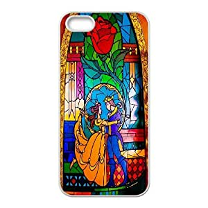 Unique Design -ZE-MIN PHONE CASE For Apple Iphone 5 5S Cases -Beauty And The Beast Pattern 20