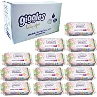 Box of 12 Packs Giggles 120 scented Baby Wet Wipes, 120 Sheets wetwipes per pack, total of 1440 wetwipe sheets