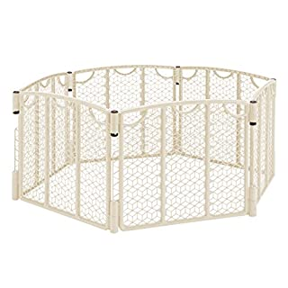 Versatile Play Space, Indoor & Outdoor Play Space, Portable, 18.5 Square Feet of Enclosed Space, Cream