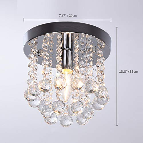 Surpars House Mini Style 1-Light Flush Mount Crystal Chandelier by Surpars House (Image #4)