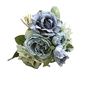 PENATE 1 Bunch of Artificial Fake Flowers Rose Bouquet Floral for Farmhouse Home Garden Office Patio Wedding and Indoor Outdoor Decoration 7