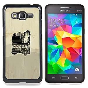 """Qstar Arte & diseño plástico duro Fundas Cover Cubre Hard Case Cover para Samsung Galaxy Grand Prime G530H / DS (Cartel del vintage"""")"""