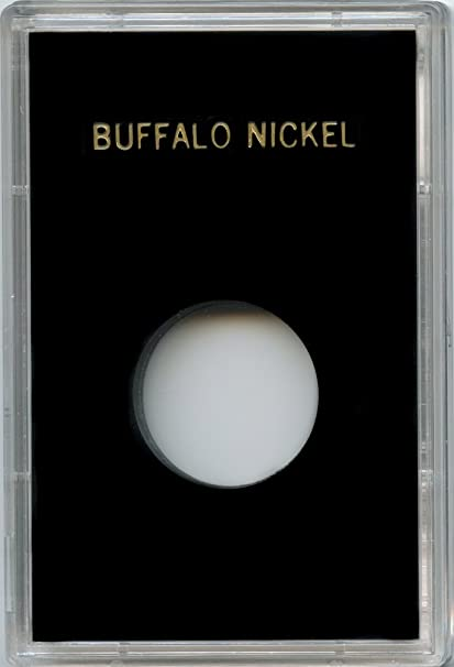 """2 OLD /& 2 NEW BUFFALO NICKELS IN A 2/""""X3/"""" PLASTIC CASE"""