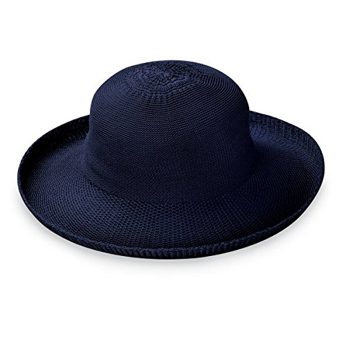 Wallaroo Hat Company Women's Victoria Sun Hat - French Navy - Ultra-Lightweight, Packable, Modern Style, Designed in Australia.