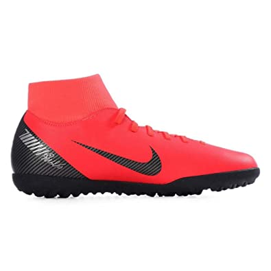 2364e621478 Nike Men s Superfly 6 Club CR7 TF Shoes (Bright Crimson Black-Chrome)