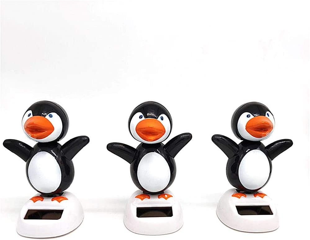 Dequate Solarfigur Wackelfigur Solarbetriebene Wackelfiguren F/ür Auto Armaturenbrett Dekoration Kinderspielzeug Geschenke S/ü/ßer Pinguin