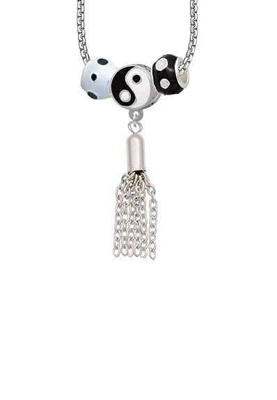 4c8170034495 Pequeña borla Yin Yang 3 collar de perlas  Amazon.es  Joyería