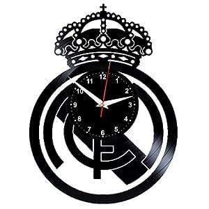 EVEVO Real madrit Reloj de Pared Vinilo Tocadiscos Retro de Reloj Grande Relojes Style habitación Home Decoración Crédito Regalo Reloj de Pared Real Madrid: ...