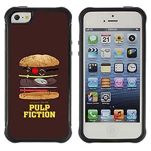 "Pulsar iFace Series Tpu silicona Carcasa Funda Case para Apple iPhone SE / iPhone 5 / iPhone 5S , Película Símbolo parodia divertida comida chatarra"""