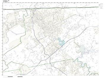 Amazon ZIP Code Wall Map of Kingsport TN ZIP Code Map