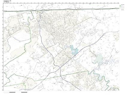 Amazon ZIP Code Wall Map of Kingsport TN ZIP Code Map Not