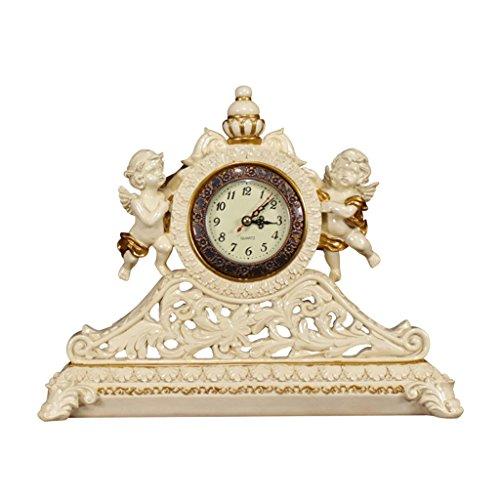 HAOFAY European Watch Clock Resin Desk Living Room Decoration Clock (Color : Picture Color) by HAOFAY