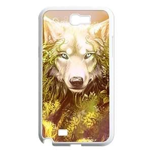 Diy Cool Wolf Phone Case for samsung galaxy note 2 White Shell Phone JFLIFE(TM) [Pattern-1] Kimberly Kurzendoerfer