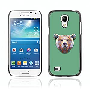 Carcasa Funda Case // V0000508 Triangle Bear Design// Samsung Galaxy S4 MINI i9190 i9192 i9195