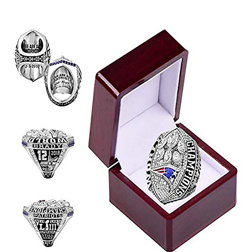 HASTTHOU 2019 New England Patriots Championships Ring Collectible Gift Fashion Football Championship Ring with Box -