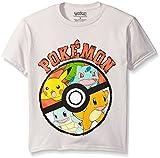 Pokemon Big Boys Pokemon Ball Short Sleeve Tee, Silver, Small/8