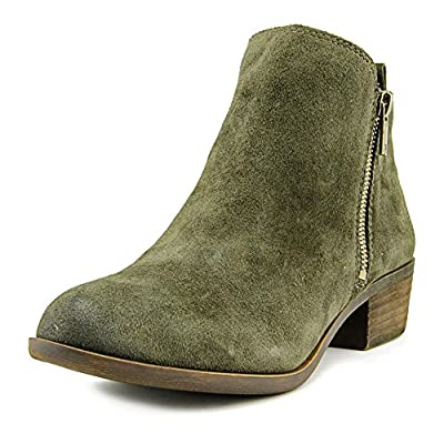 Lucky Brand Women's Basel Bootie,Green Suede Leather,US 5.5 M