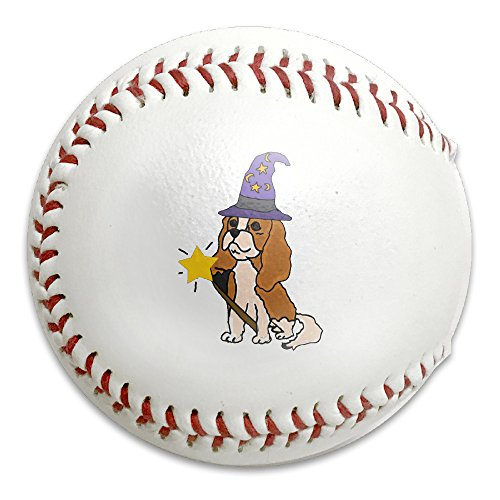 Cute Cavalier Dog Halloween Size 9 Safety Soft Baseballs Bullet Ball Training Ball White (Halloween Comet Size)