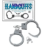 Metal Double Lock Handcuffs W/keys (D044)