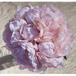 Pink Silk Peonies Bouquet - Wedding Party Flowers Arrangements Gift 62