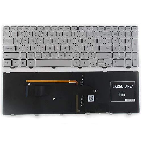 Teclado Usa Para Dell Inspiron 15-7000 15-7537 Series Silver