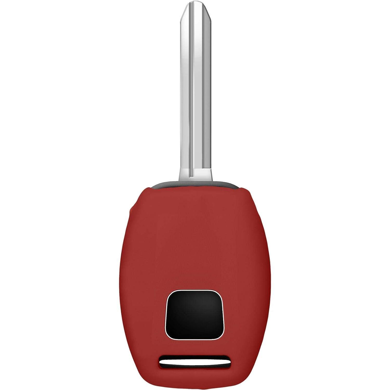 PhoneNatic Funda de Silicona para Mando de 2 Botones de Honda Civic//Accord//FIT en Naranja Llave Plegable de 2-Key