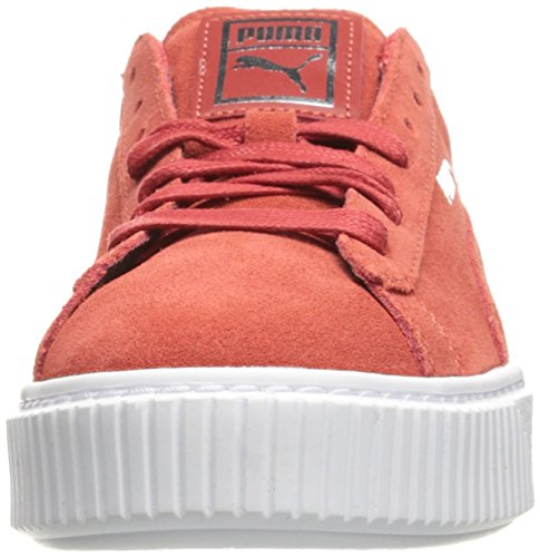 PUMA Women's Suede Platform Core Fashion Sneaker Barbados Cherry/Barbados reliable for sale discount looking for pqHyBN3x