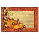 CounterArt Paper Placemat, Autumn Array, 24-Pack
