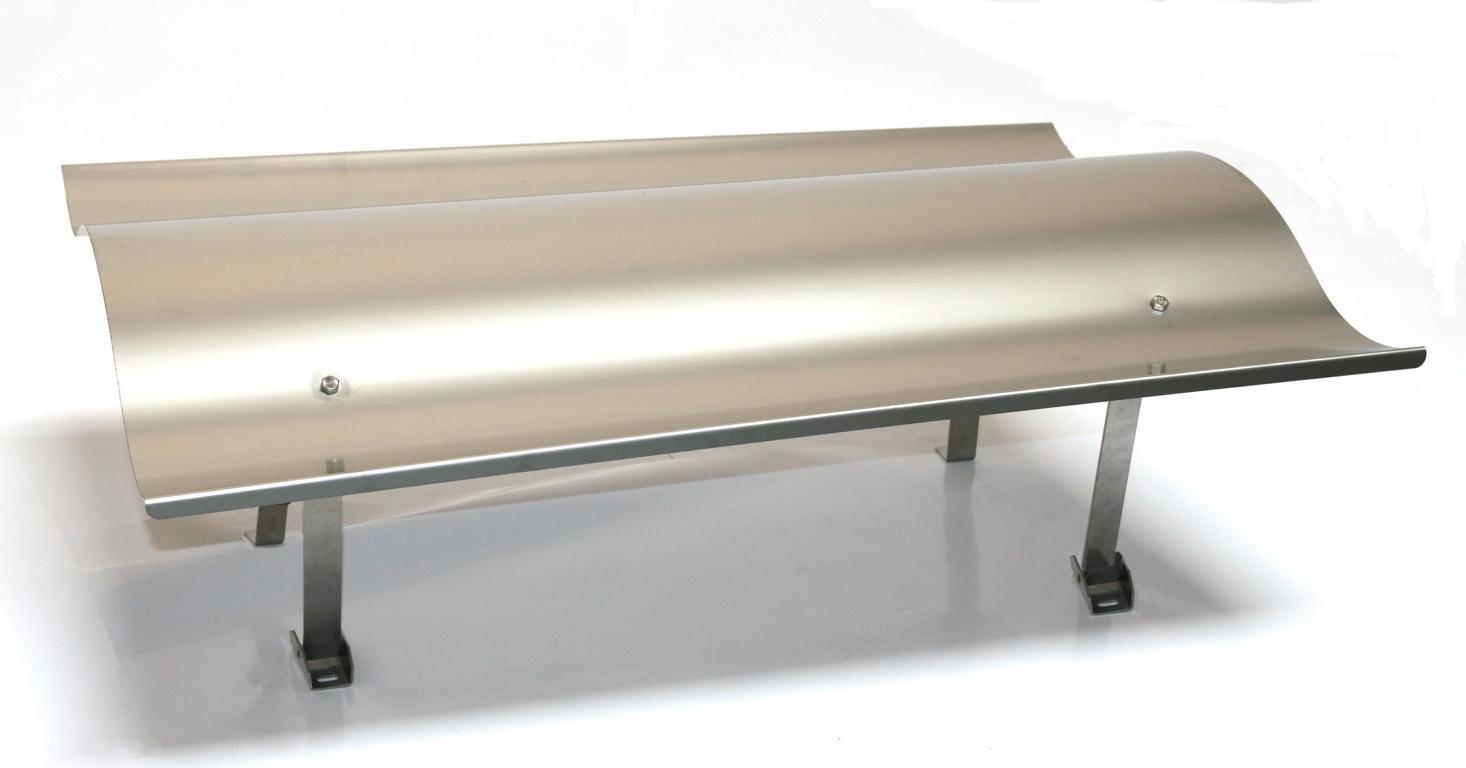 Kaminhaube klappbar Edelstahl 70 x 100cm