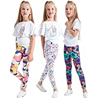 iLover Girls Stretch Leggings Tights Kids Pants Plain Full Length Children Trousers, Age 4-13 Years