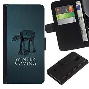 Stuss Case / Funda Carcasa PU de Cuero - Winter Is Coming A A - Samsung Galaxy S5 Mini, SM-G800
