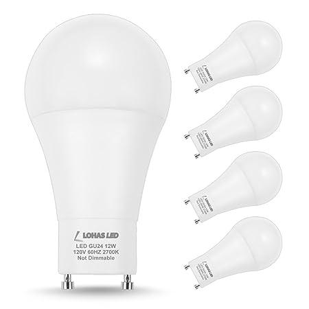 Lohas Gu24 Led Bulb A19 Light 12w75w 100w Incandescent Equivalent