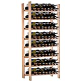 Bar Tools & Accessories New 120 Bottle Wood Wine Rack 8 Tier Storage Display Shelves Kitchen Natural