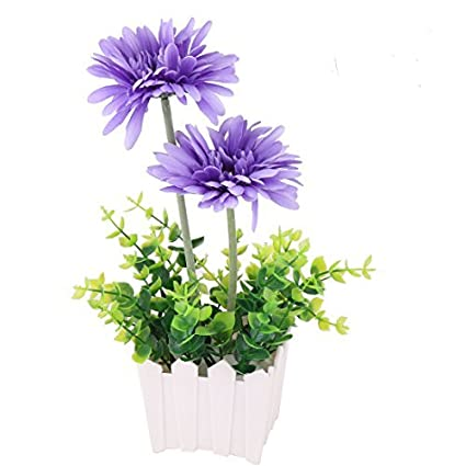 eDealMax Mesa comedor Craft alféizar turística Flor de la planta en maceta Artificial ornamento