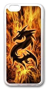 "ICORER iPhone 6 Plus Case 5.5"" Fire Dragon Slim Designer Apple iPhone 6 Plus Case and Cover TPU Rubber Transparent"