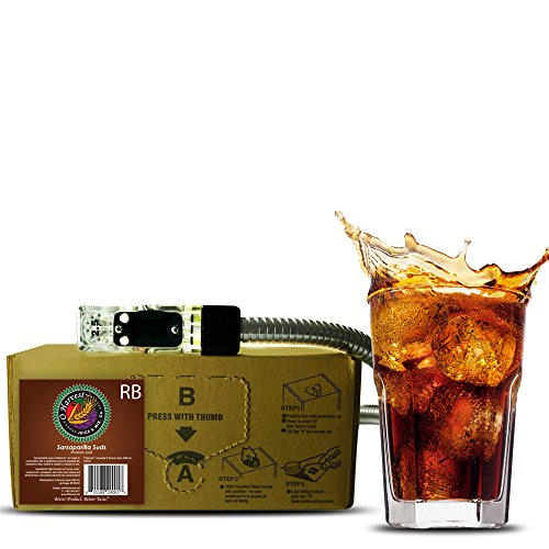Sarsaparilla Suds Craft Root Beer (3 Gallon Bag-in-Box Syrup Concentrate) - Box Pours 18 Gallons of Root Beer - Use with Bar Gun, Soda Fountain or SodaStream