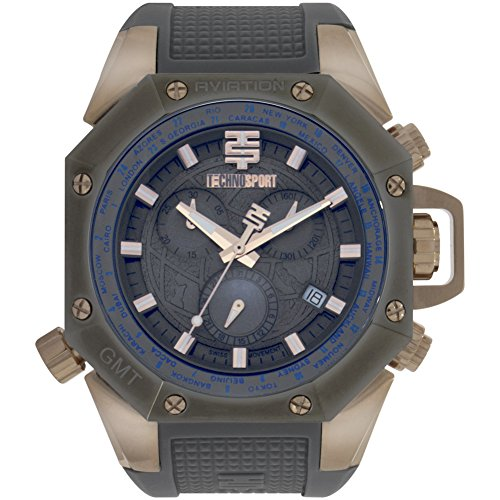 TechnoSport Men's Chrono Watch - AVIATION silver
