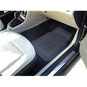 Zone Tech All Weather Full Rubber Clear Car Interior Floor Mats – 4-Piece Set Clear Heavy Duty Car Interior Floor Mats